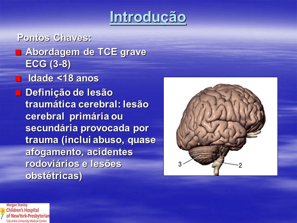Introdução Pontos Chaves: Abordagem de TCE grave ECG (3-8)