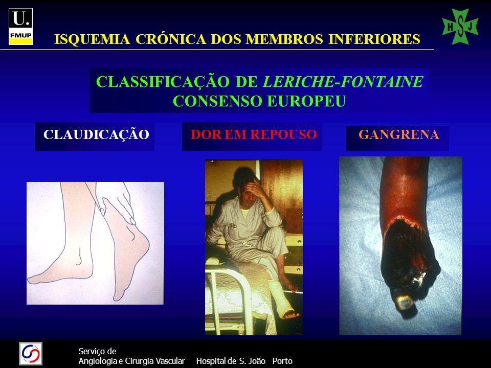 ISQUEMIA CRÓNICA DOS MEMBROS INFERIORES