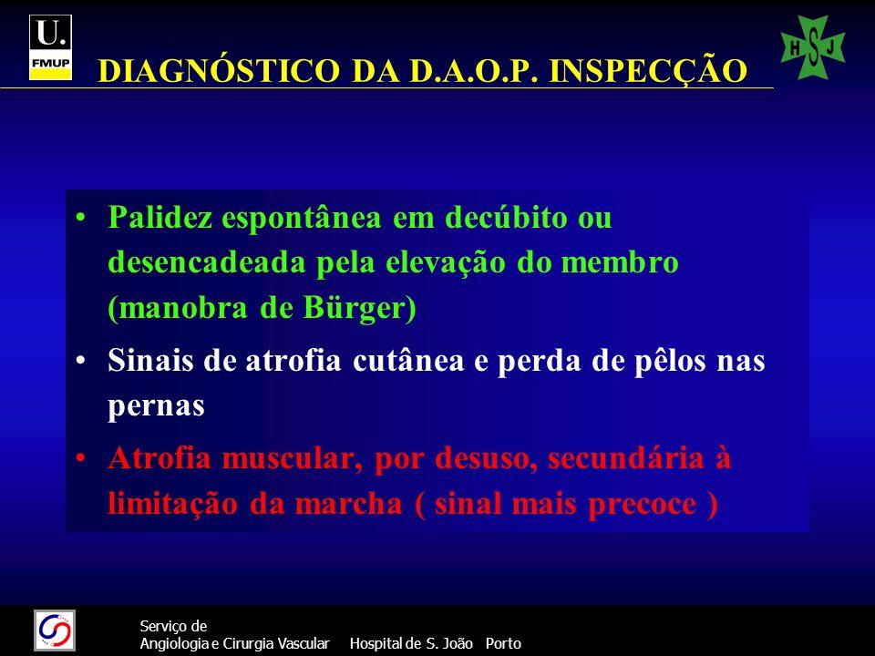 DIAGNÓSTICO DA D.A.O.P. INSPECÇÃO