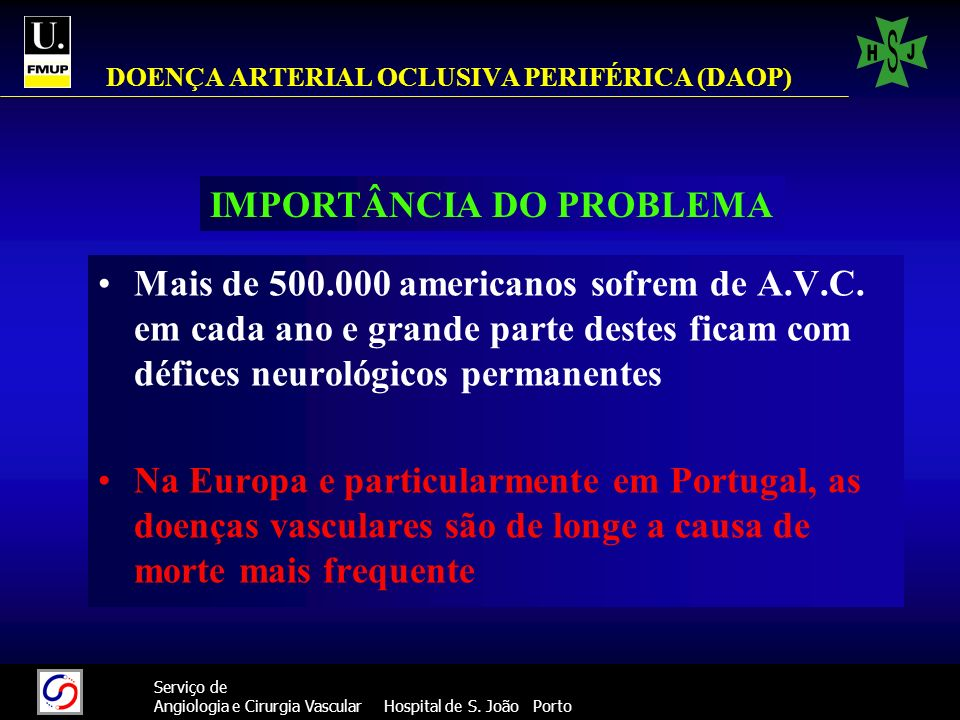 DOENÇA ARTERIAL OCLUSIVA PERIFÉRICA (DAOP)