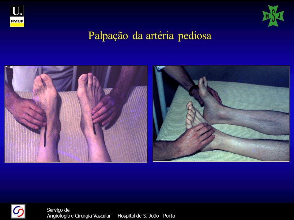 Palpação da artéria pediosa