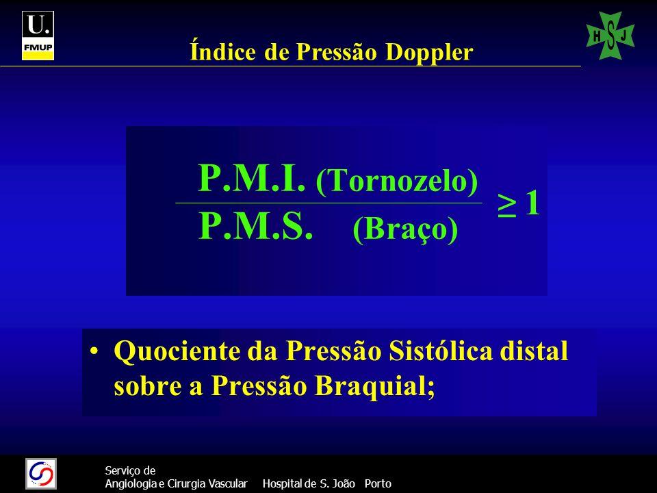 P.M.I. (Tornozelo) P.M.S. (Braço)