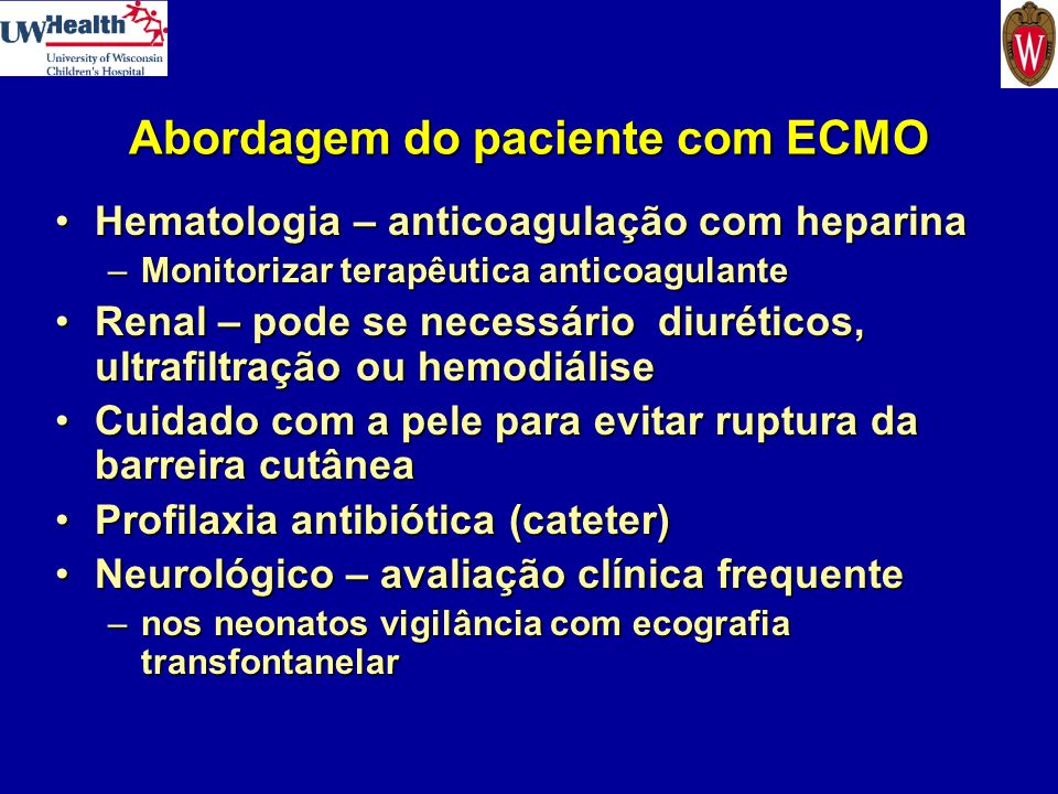 Abordagem do paciente com ECMO