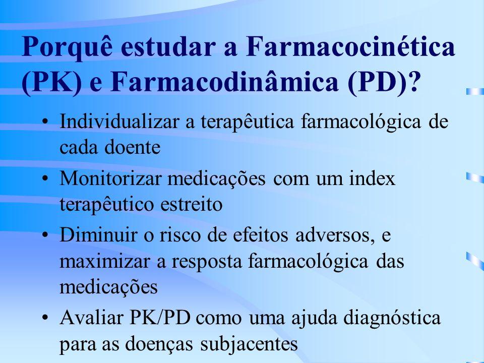 Porquê estudar a Farmacocinética (PK) e Farmacodinâmica (PD)