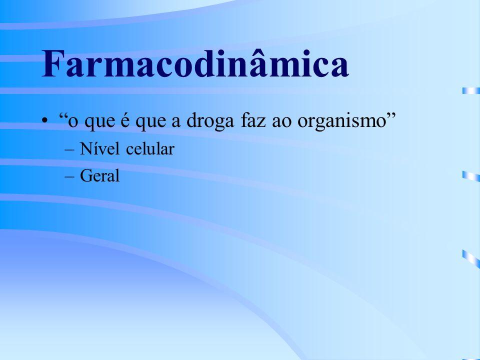 Farmacodinâmica o que é que a droga faz ao organismo Nível celular
