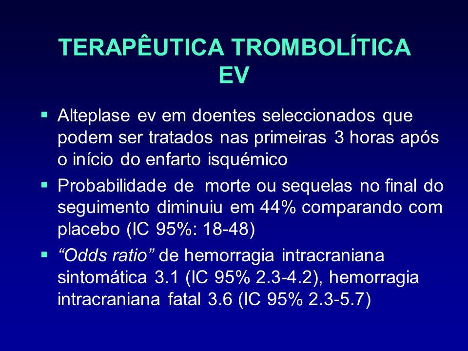 TERAPÊUTICA TROMBOLÍTICA EV