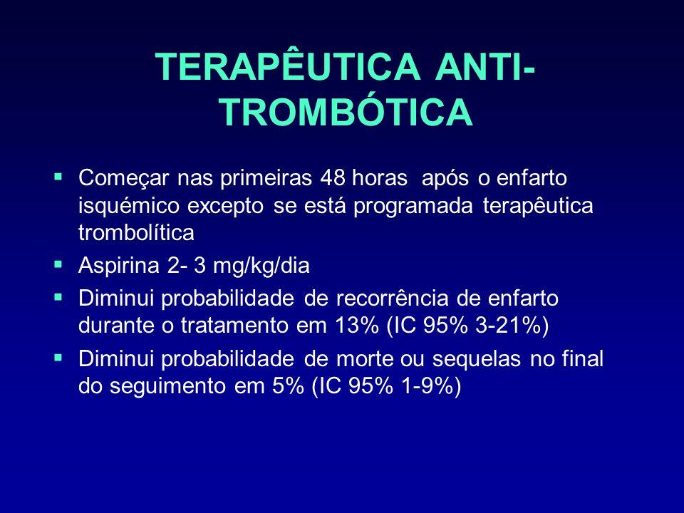 TERAPÊUTICA ANTI-TROMBÓTICA