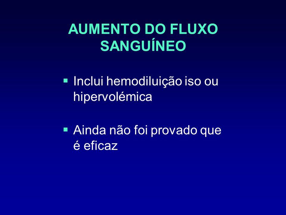 AUMENTO DO FLUXO SANGUÍNEO