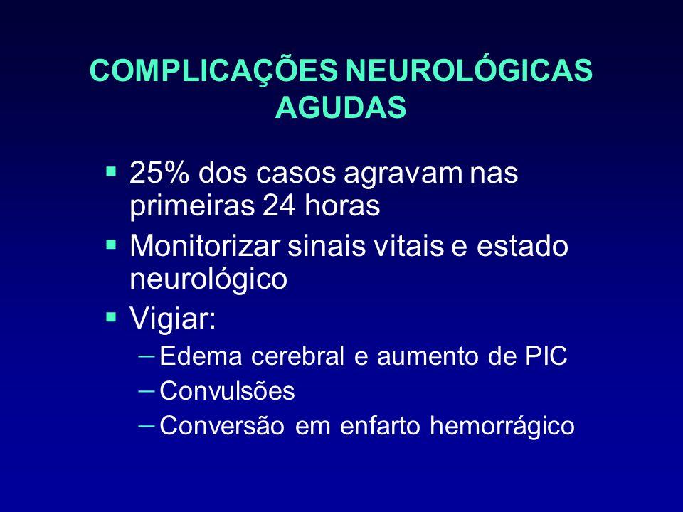 COMPLICAÇÕES NEUROLÓGICAS AGUDAS