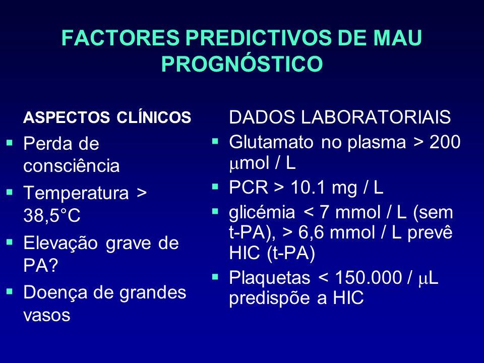FACTORES PREDICTIVOS DE MAU PROGNÓSTICO