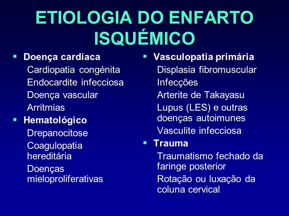ETIOLOGIA DO ENFARTO ISQUÉMICO