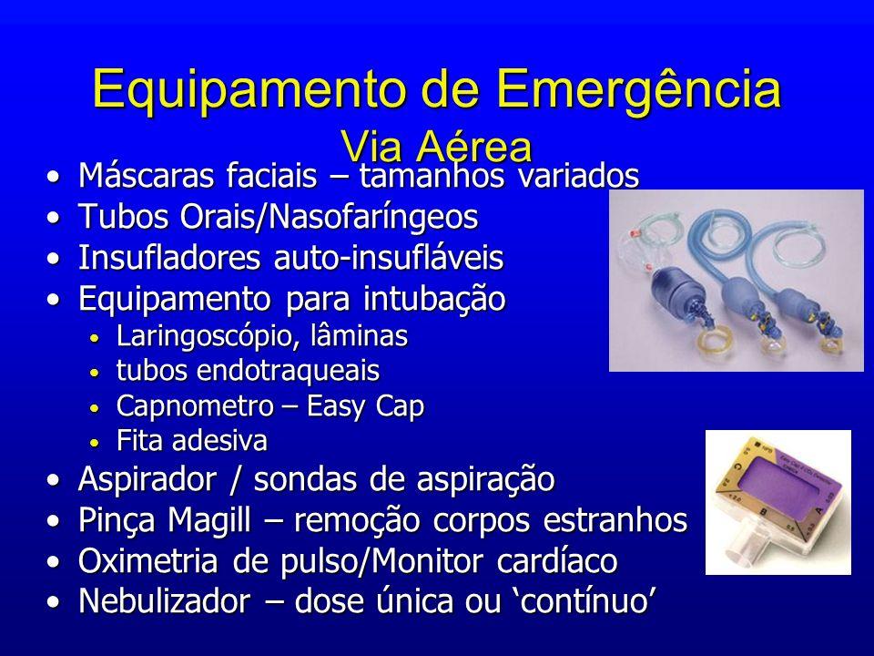 Equipamento de Emergência Via Aérea