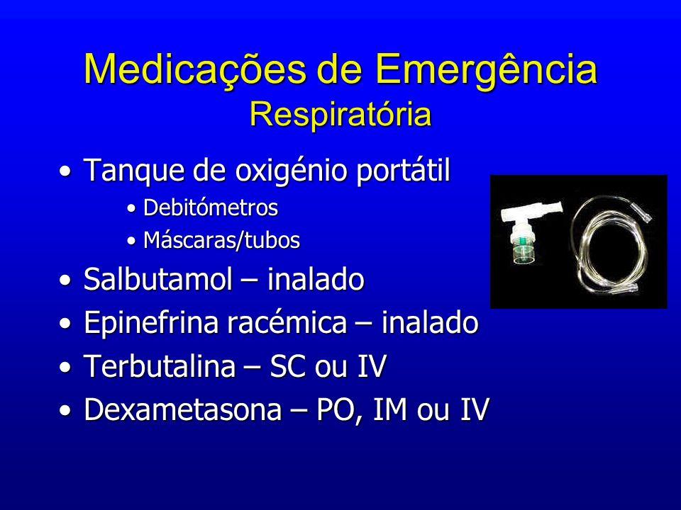 Medicações de Emergência Respiratória