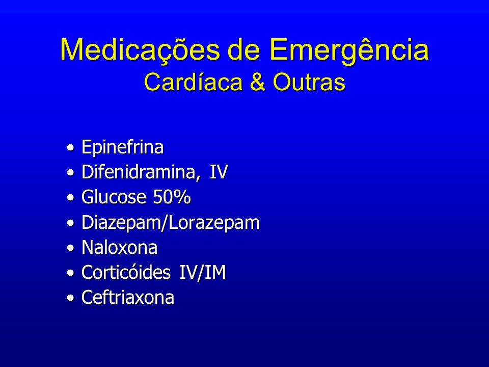 Medicações de Emergência Cardíaca & Outras