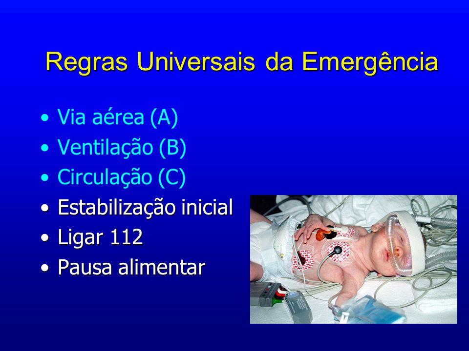 Regras Universais da Emergência