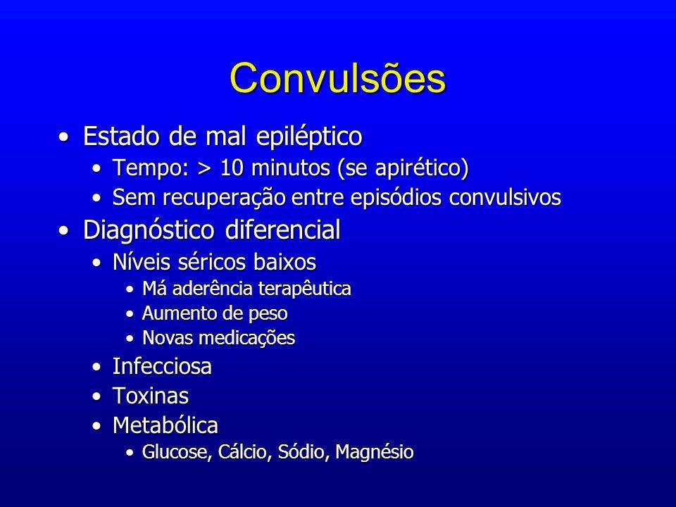 Convulsões Estado de mal epiléptico Diagnóstico diferencial