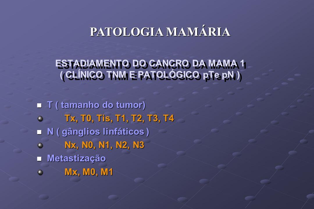 ESTADIAMENTO DO CANCRO DA MAMA 1 ( CLÍNICO TNM E PATOLÓGICO pTe pN )