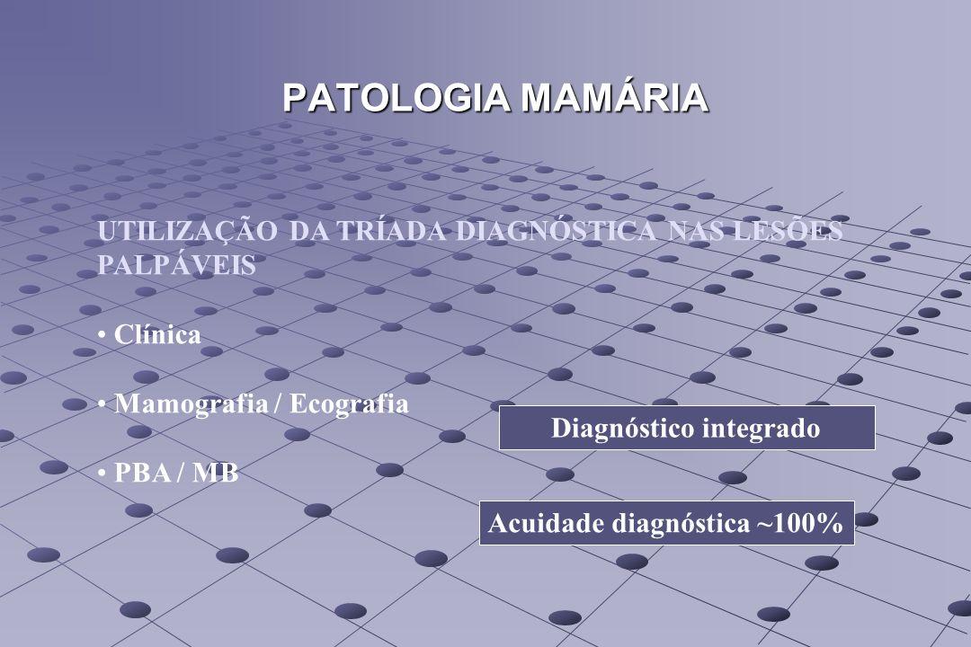 PATOLOGIA MAMÁRIA UTILIZAÇÃO DA TRÍADA DIAGNÓSTICA NAS LESÕES