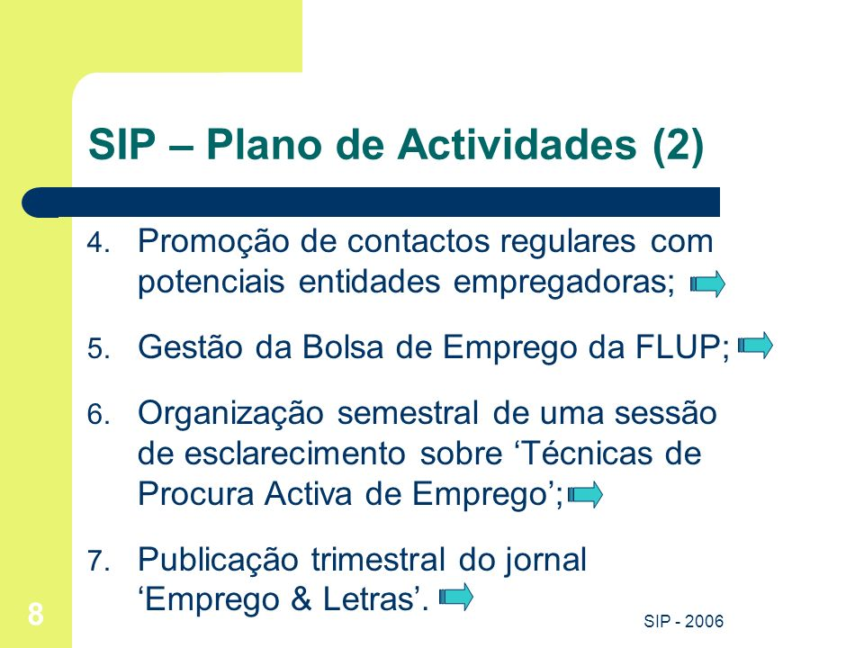 SIP – Plano de Actividades (2)