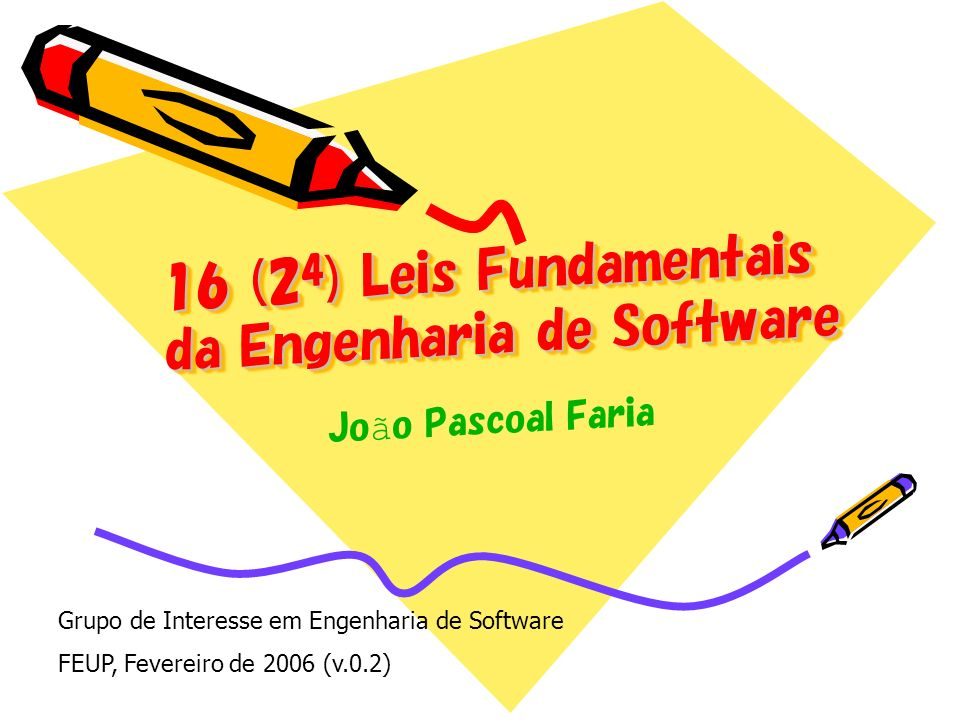 16 (24) Leis Fundamentais da Engenharia de Software