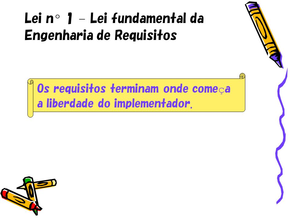 Lei nº 1 – Lei fundamental da Engenharia de Requisitos