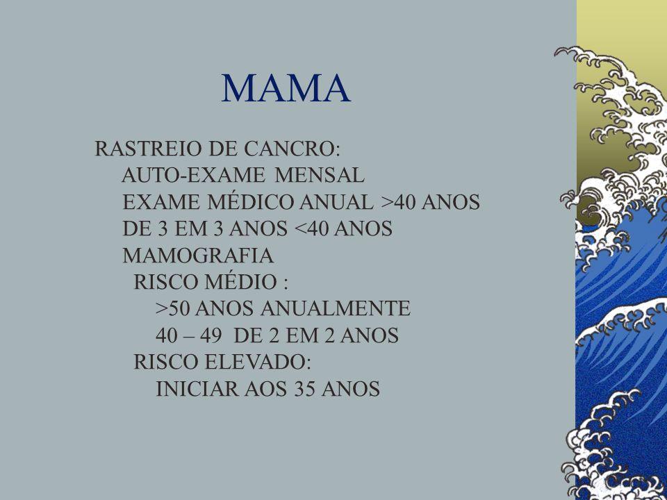 MAMA RASTREIO DE CANCRO: AUTO-EXAME MENSAL