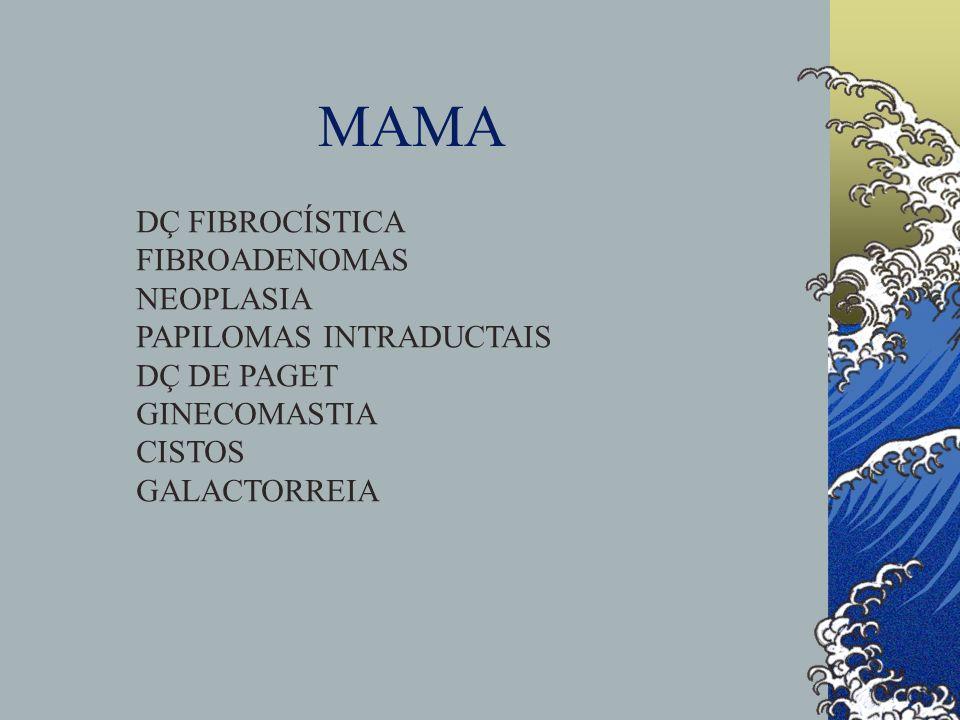 MAMA DÇ FIBROCÍSTICA FIBROADENOMAS NEOPLASIA PAPILOMAS INTRADUCTAIS