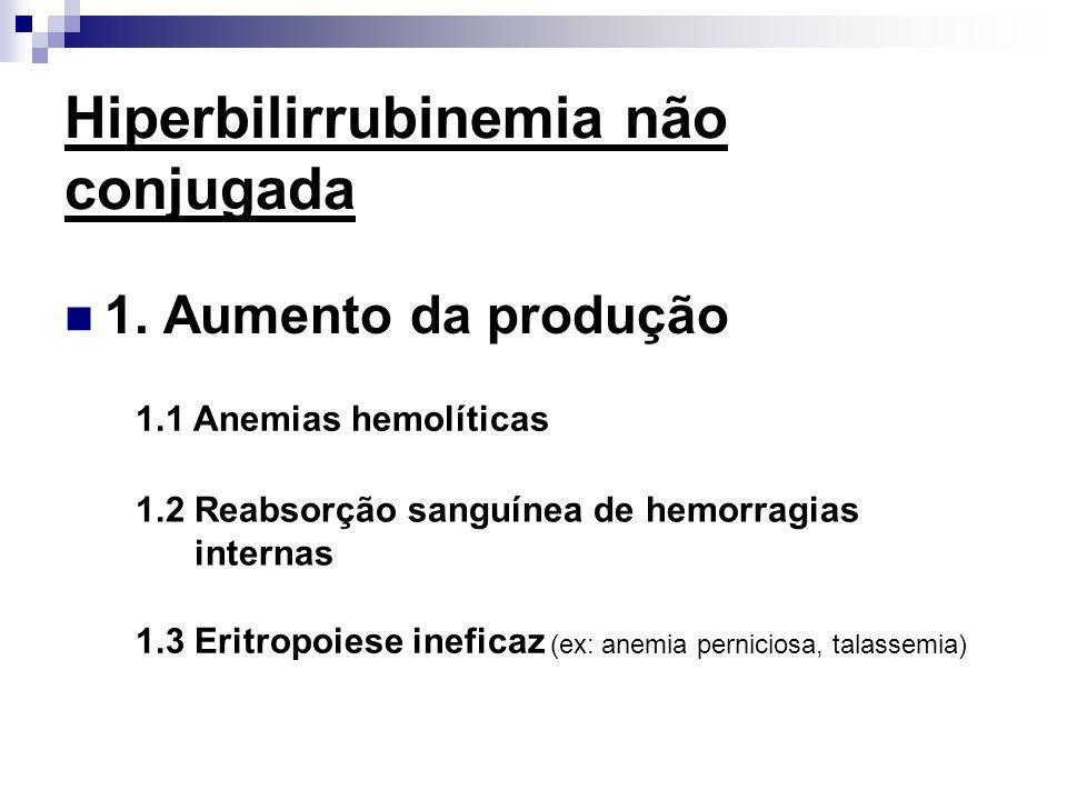 Hiperbilirrubinemia não conjugada