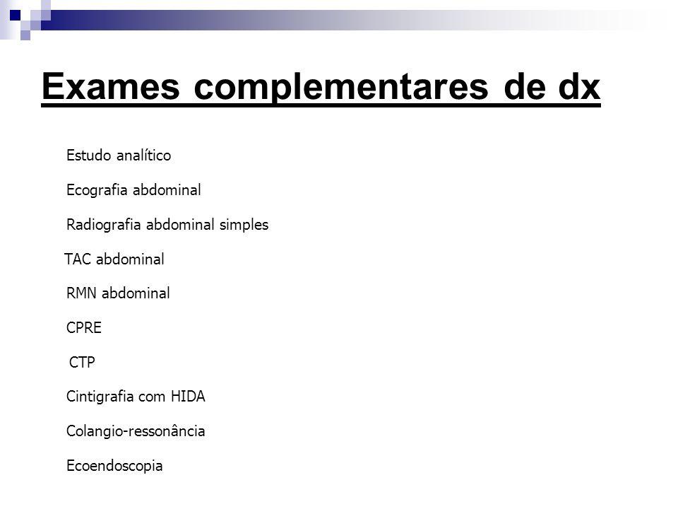 Exames complementares de dx