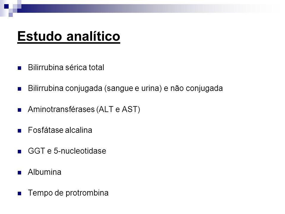 Estudo analítico Bilirrubina sérica total