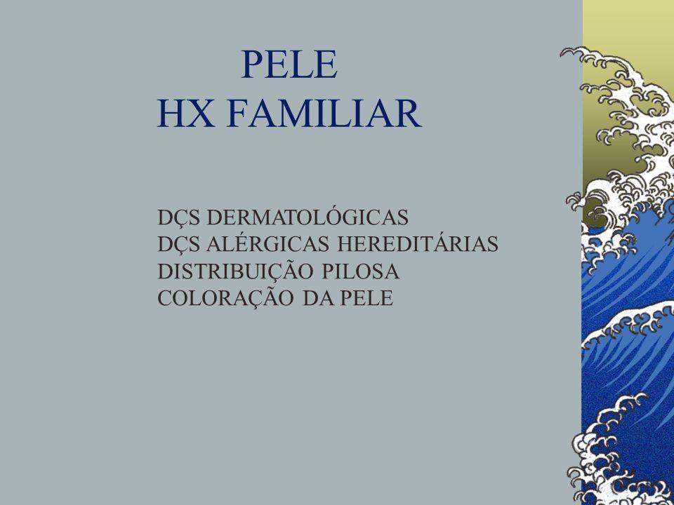 PELE HX FAMILIAR DÇS DERMATOLÓGICAS DÇS ALÉRGICAS HEREDITÁRIAS