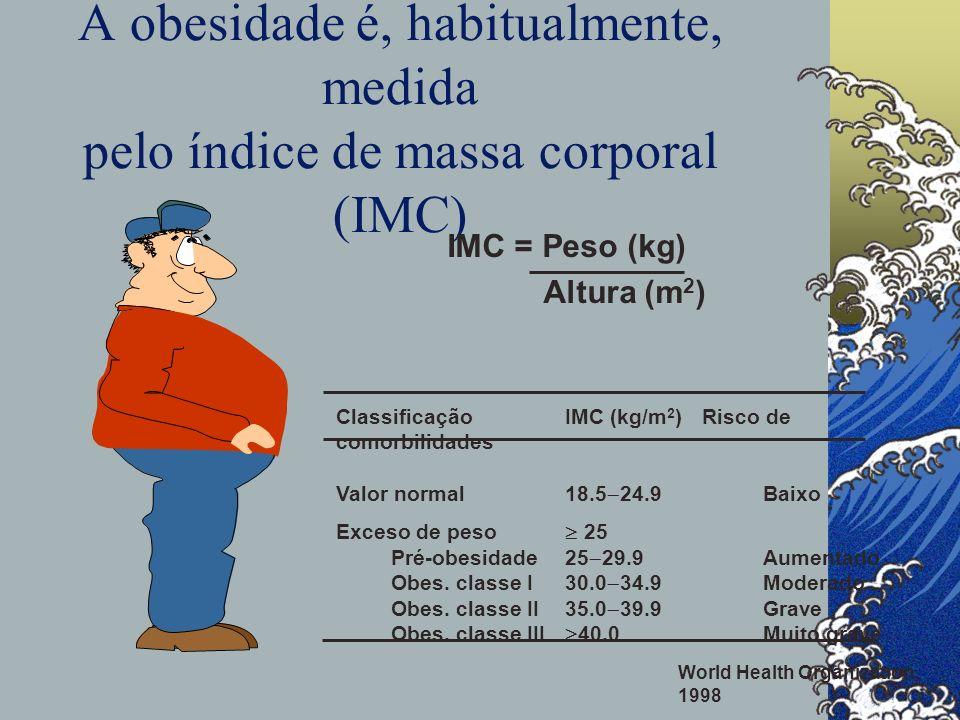 A obesidade é, habitualmente, medida pelo índice de massa corporal (IMC)