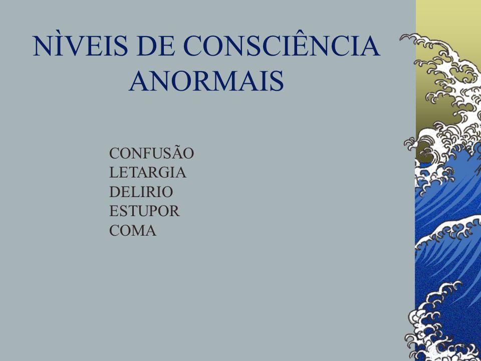 NÌVEIS DE CONSCIÊNCIA ANORMAIS