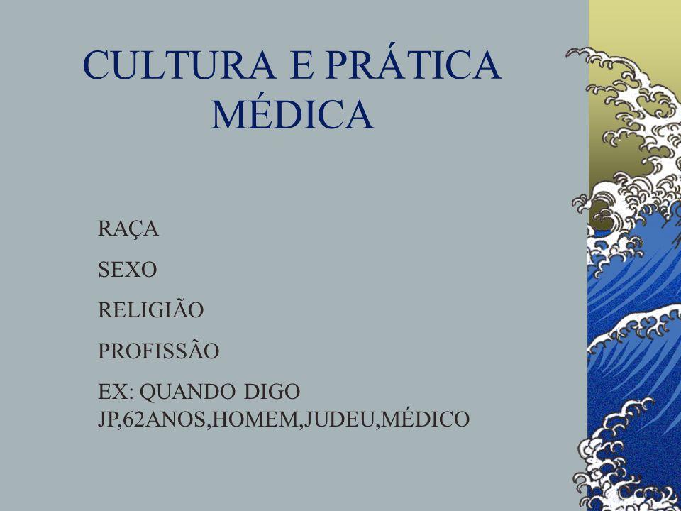 CULTURA E PRÁTICA MÉDICA