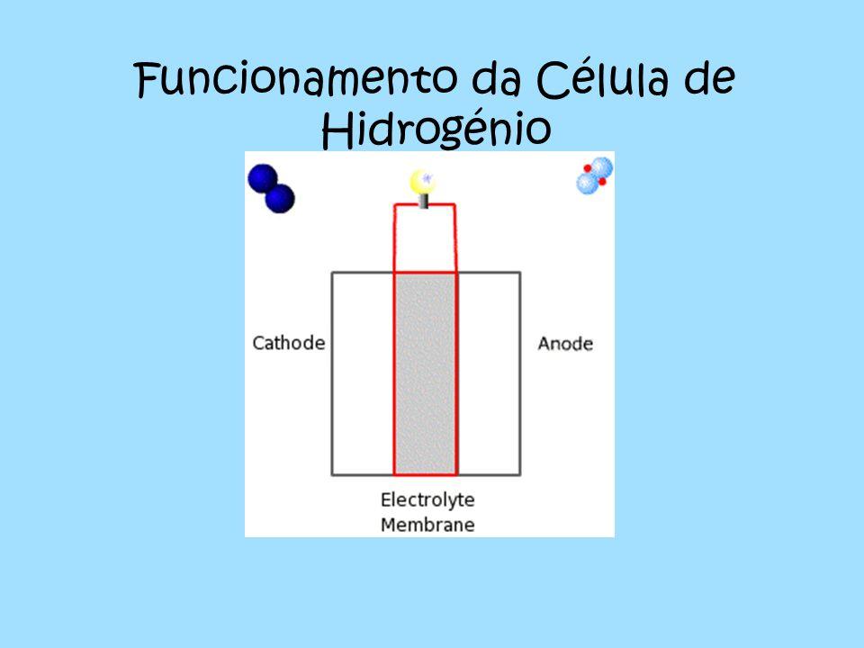 Funcionamento da Célula de Hidrogénio