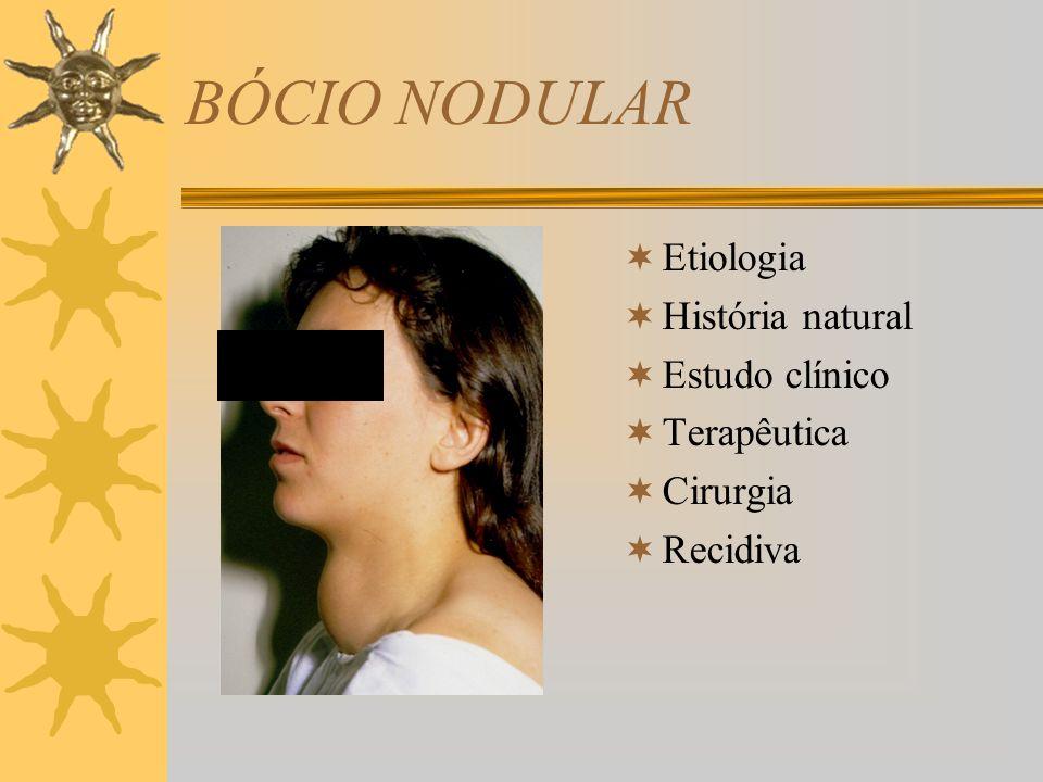BÓCIO NODULAR Etiologia História natural Estudo clínico Terapêutica