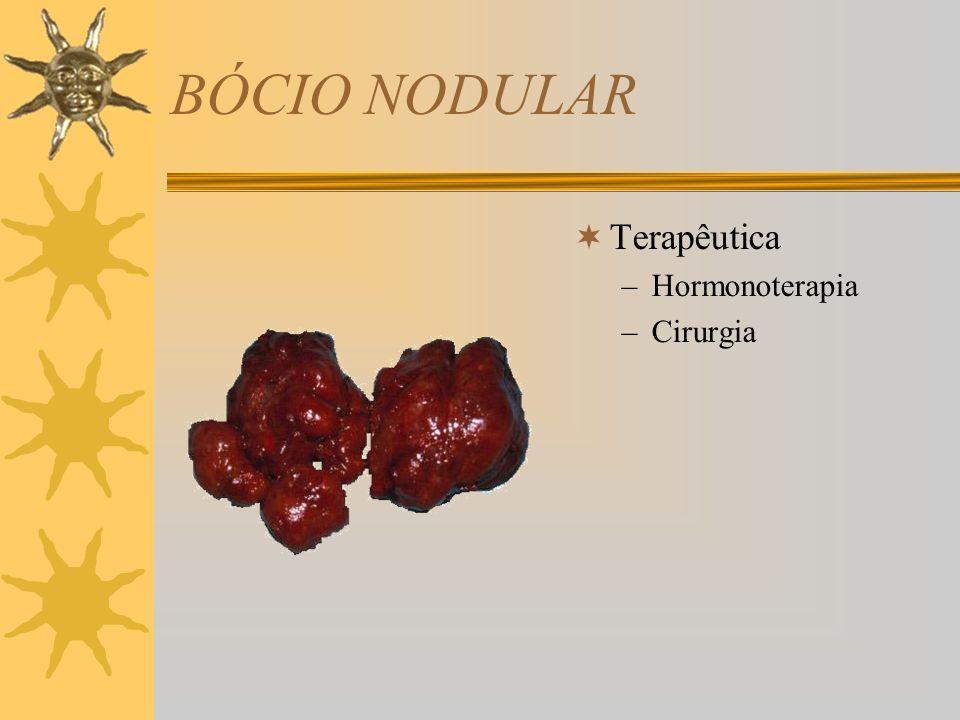 BÓCIO NODULAR Terapêutica Hormonoterapia Cirurgia