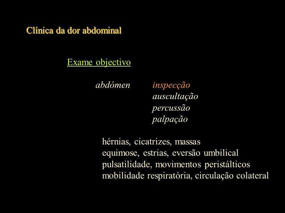 Clínica da dor abdominal