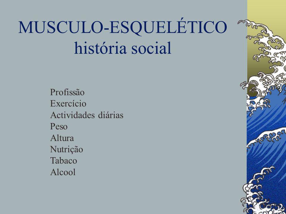 MUSCULO-ESQUELÉTICO história social