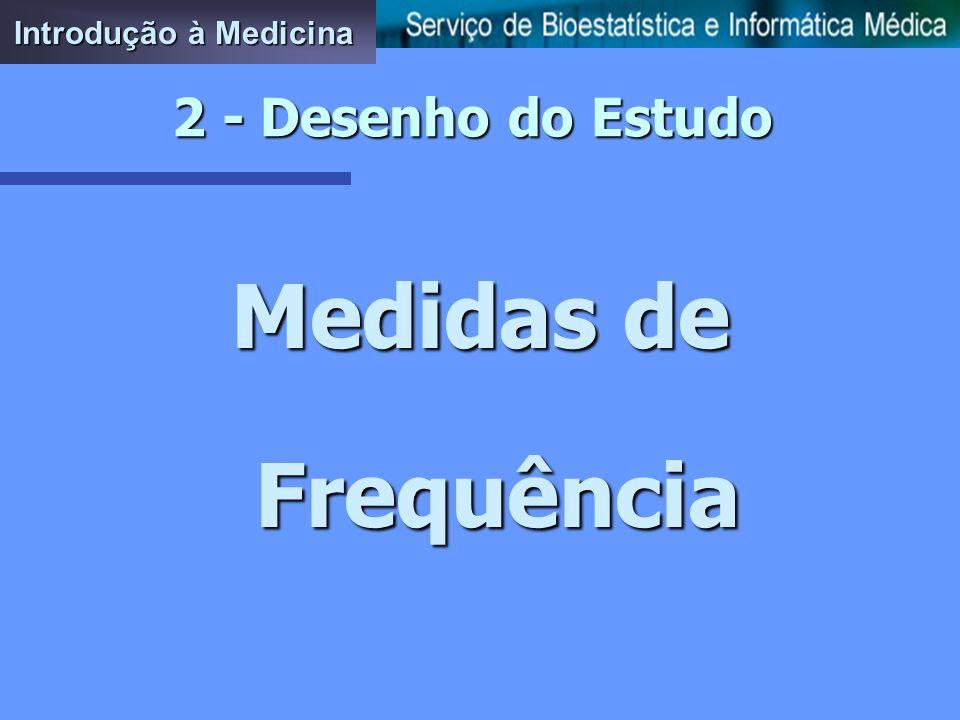 Introdução à Medicina 2 - Desenho do Estudo Medidas de Frequência