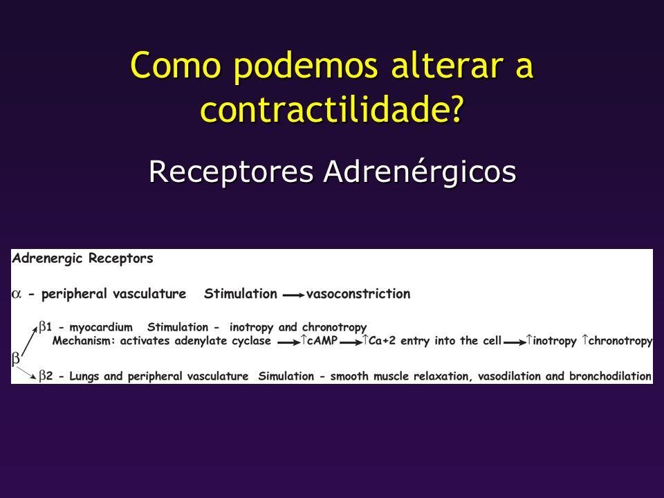Como podemos alterar a contractilidade