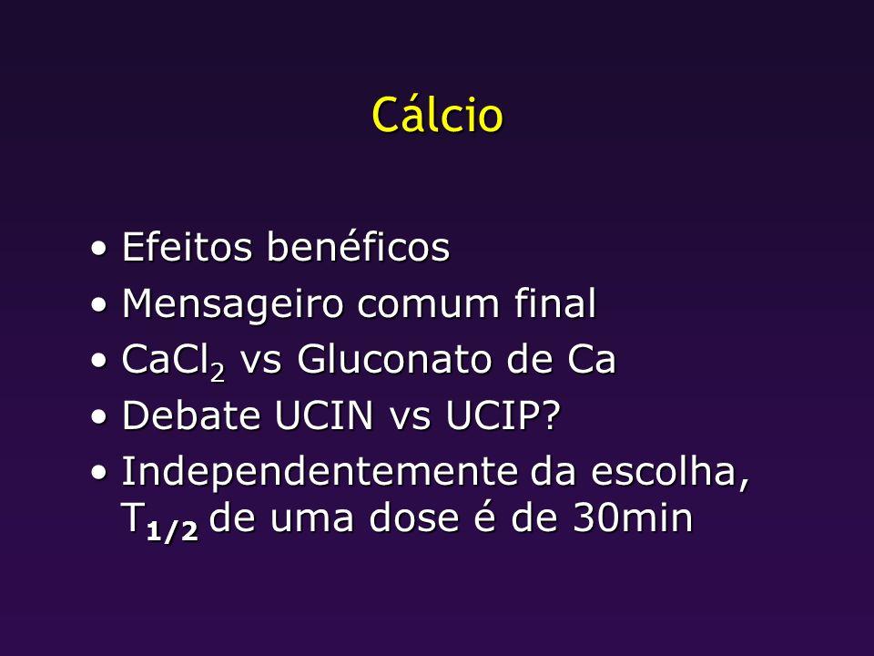 Cálcio Efeitos benéficos Mensageiro comum final