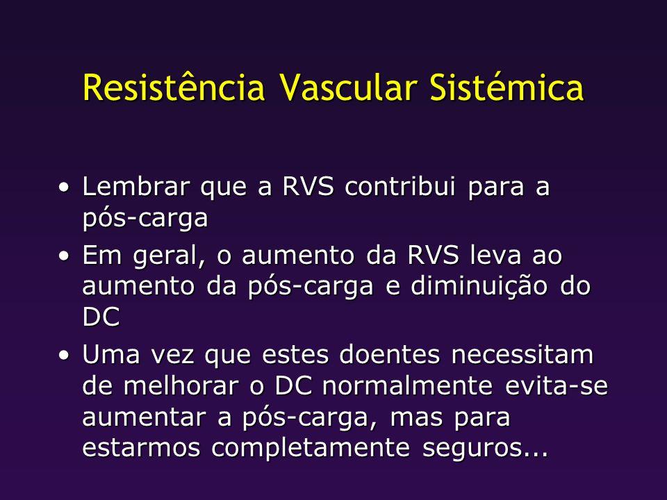 Resistência Vascular Sistémica