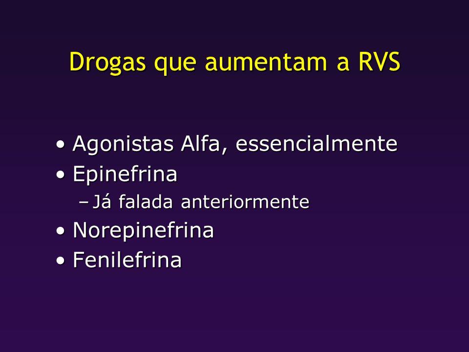 Drogas que aumentam a RVS