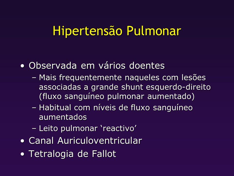 Hipertensão Pulmonar Observada em vários doentes