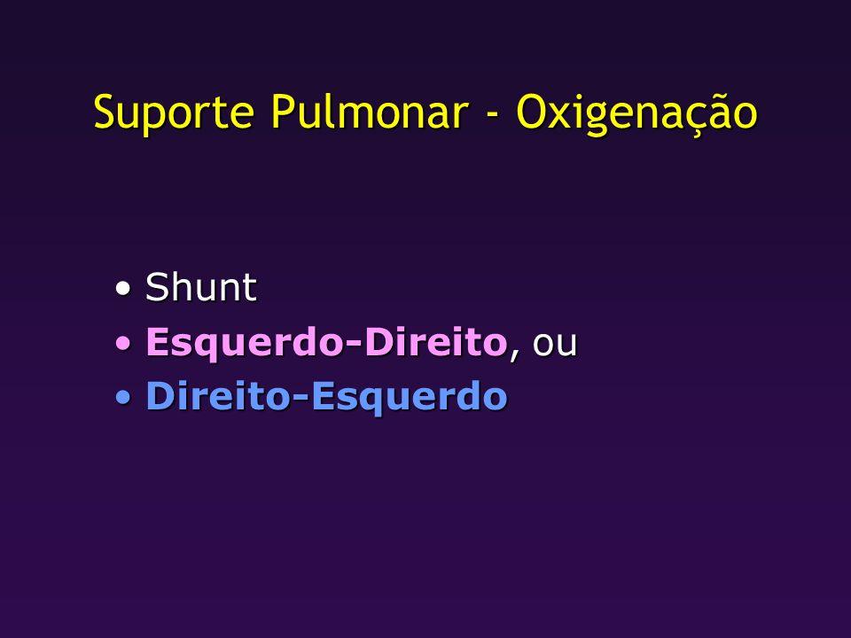 Suporte Pulmonar - Oxigenação
