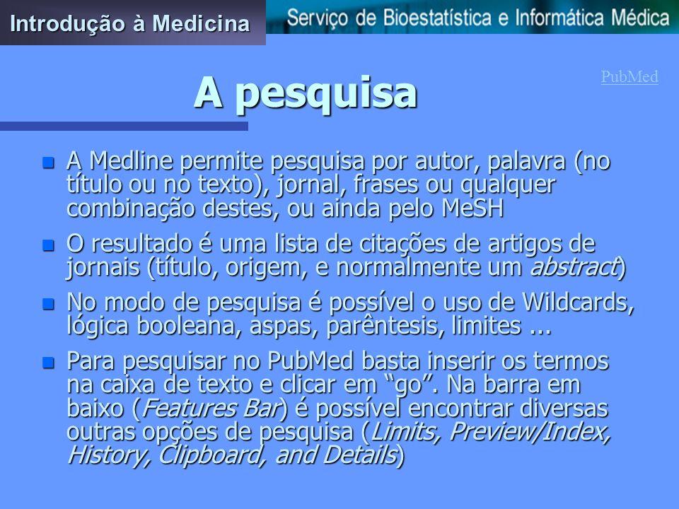 Introdução à MedicinaA pesquisa. PubMed.