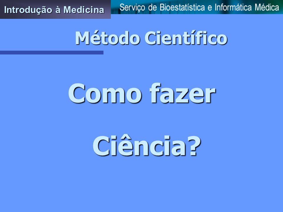 Introdução à Medicina Método Científico Como fazer Ciência