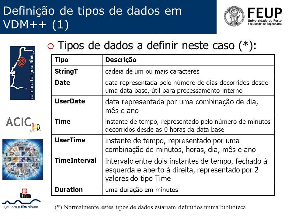 Definição de tipos de dados em VDM++ (1)