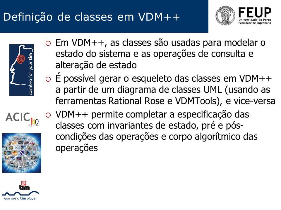 Definição de classes em VDM++